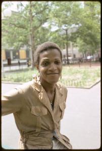 Marsha P Johnson trans woman advocate for Black civil rights, HIV access, and ending homelessness.
